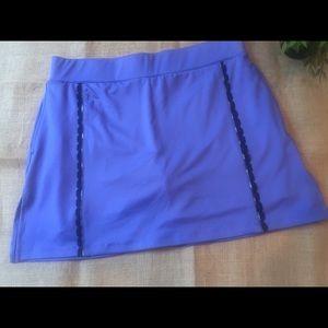 IZOD Skort Skirt Lavender Lace Plaid Details MED